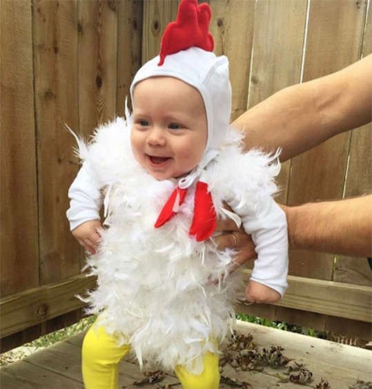 No-Sew DIY baby chicken baby Costume | Primary.com  sc 1 st  Primary & No-Sew DIY Kids and Baby Costumes | Primary.com