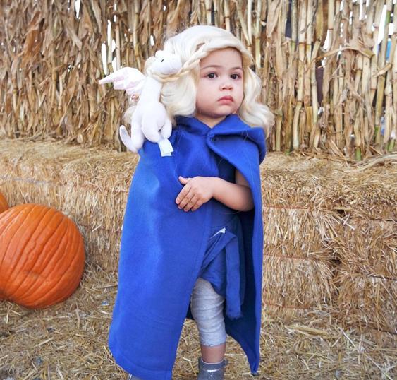 No Sew Diy Daenerys Game Of Thrones Baby Costume Primary Com