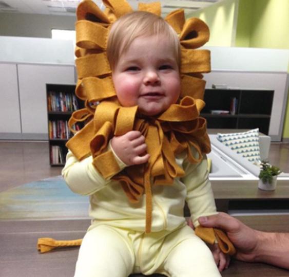sc 1 st  Primary & No-Sew DIY Baby lion Baby Costume | Primary.com