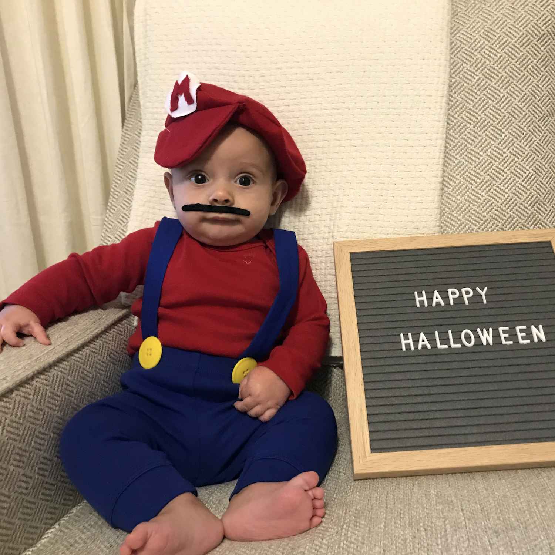 mario and luigi costumes baby