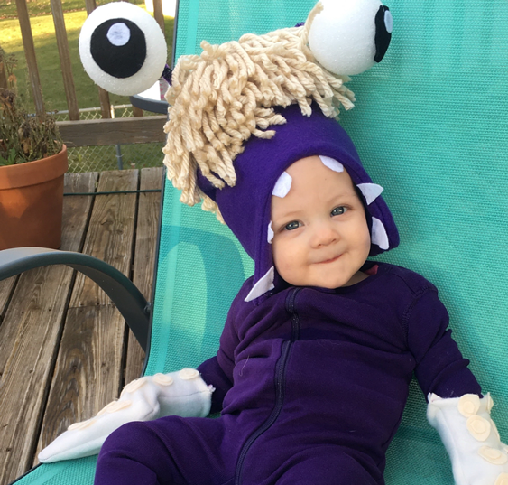No Sew Diy Monster Boo Monsters Inc Baby Costume Primary Com