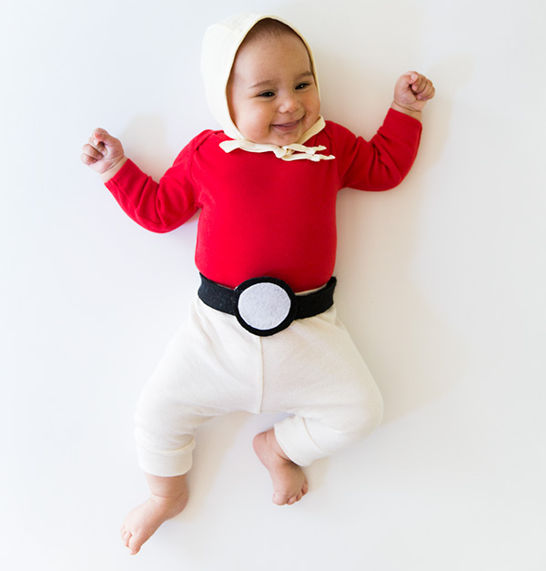 No-Sew DIY baby pokeball baby Costume | Primary.com  sc 1 st  Primary & No-Sew DIY Kids and Baby Costumes | Primary.com