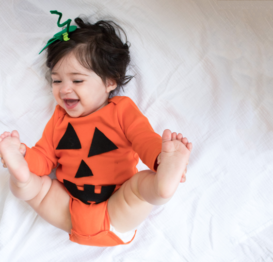 No-Sew DIY baby pumpkin baby Costume | Primary.com  sc 1 st  Primary : homemade baby boy halloween costumes  - Germanpascual.Com