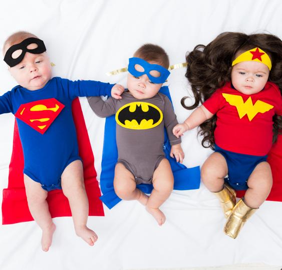 No Sew Diy Superheroes Baby Superman Baby Batman Baby Wonder