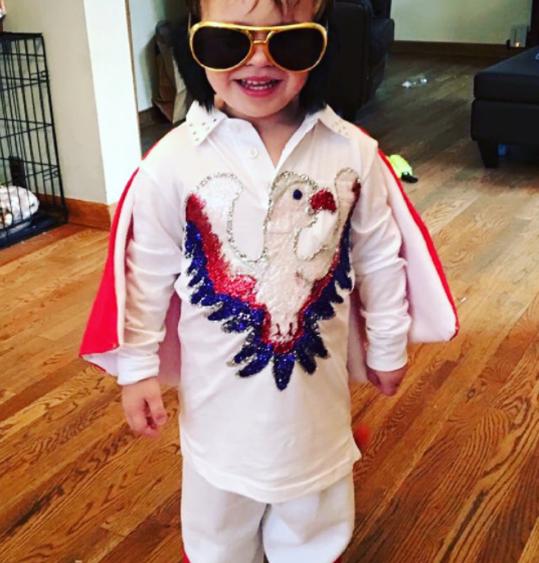 29d5df76fcb Elvis Kids Costume   Get Quotations · Fun Plus Boys Elvis Gold Lame ...