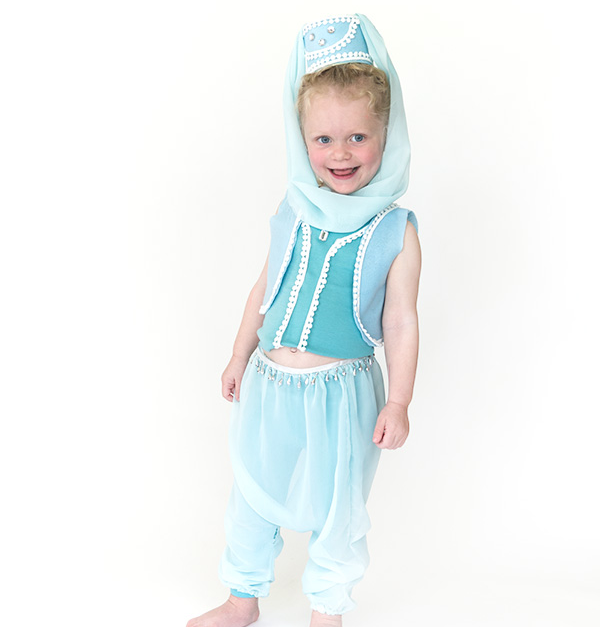 No-Sew DIY genie characters Costume | Primary.com  sc 1 st  Primary & No-Sew DIY Genie Kids Costume | Primary.com