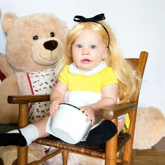 No Sew Diy Goldilocks Baby Costume