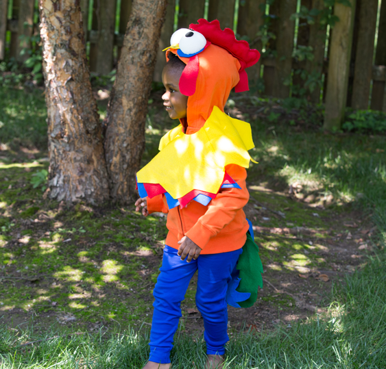 No-Sew DIY hei hei animals Costume | Primary.com & No-Sew DIY Hei hei Kids Costume | Primary.com