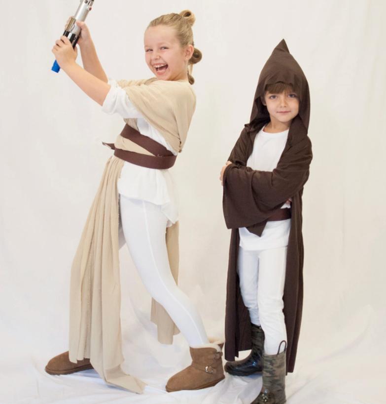 No Sew Diy Jedi Knights Rey Luke From Star Wars Kids