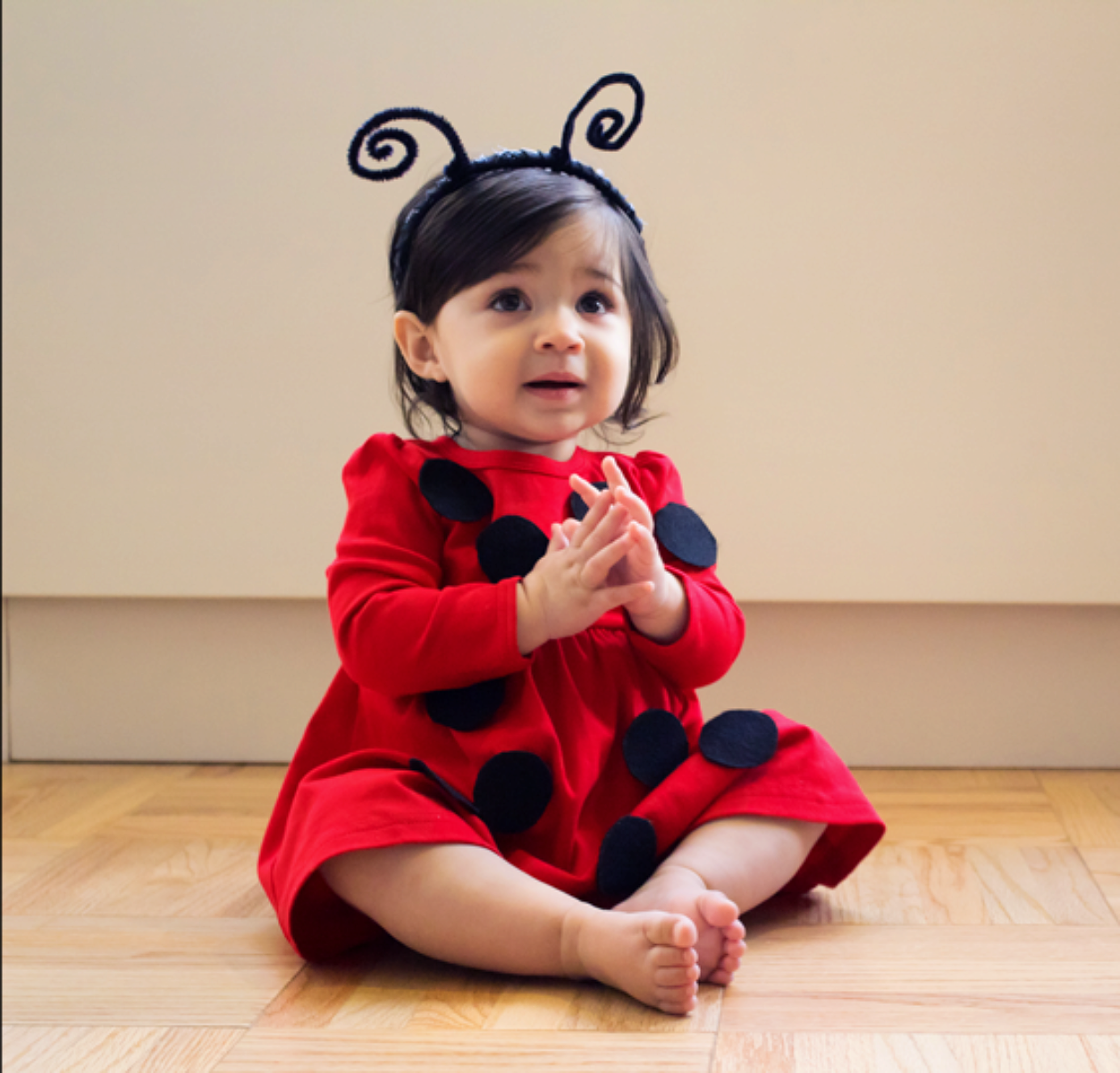 No sew diy kids and baby costumes primary no sew diy ladybug baby costume primary solutioingenieria Images