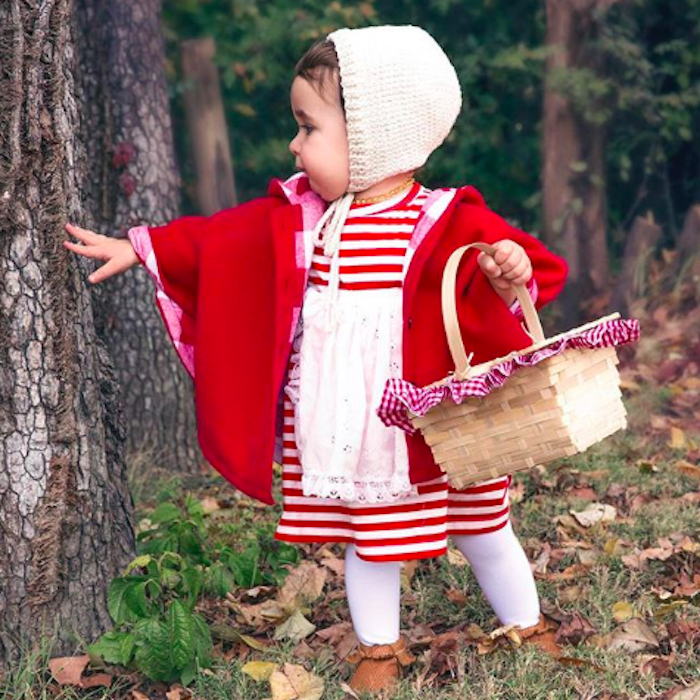 No Sew Diy Little Red Riding Hood Kids Costume Primary Com