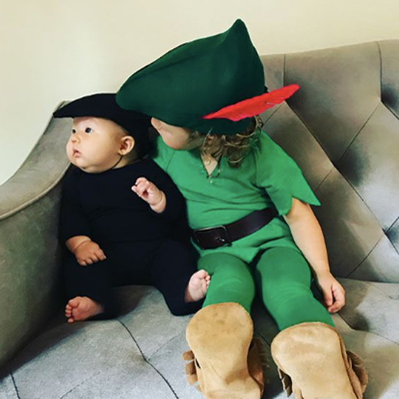 No Sew DIY Peter Pan And Shadow Baby Costume | Primary.com