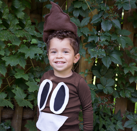 No-Sew DIY poop emoji characters Costume | Primary.com  sc 1 st  Primary & No-Sew DIY Kids and Baby Costumes | Primary.com