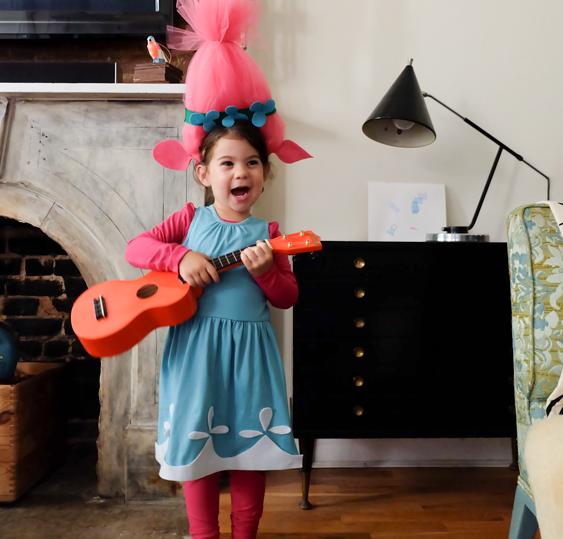 2f4158854a No-Sew DIY Poppy troll Kids Costume | Primary.com