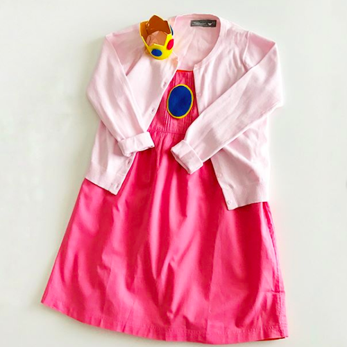 No Sew Diy Princess Peach From Mario Bros Baby Costume