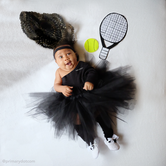 No Sew Diy Serena Williams Baby Costume Primary Com
