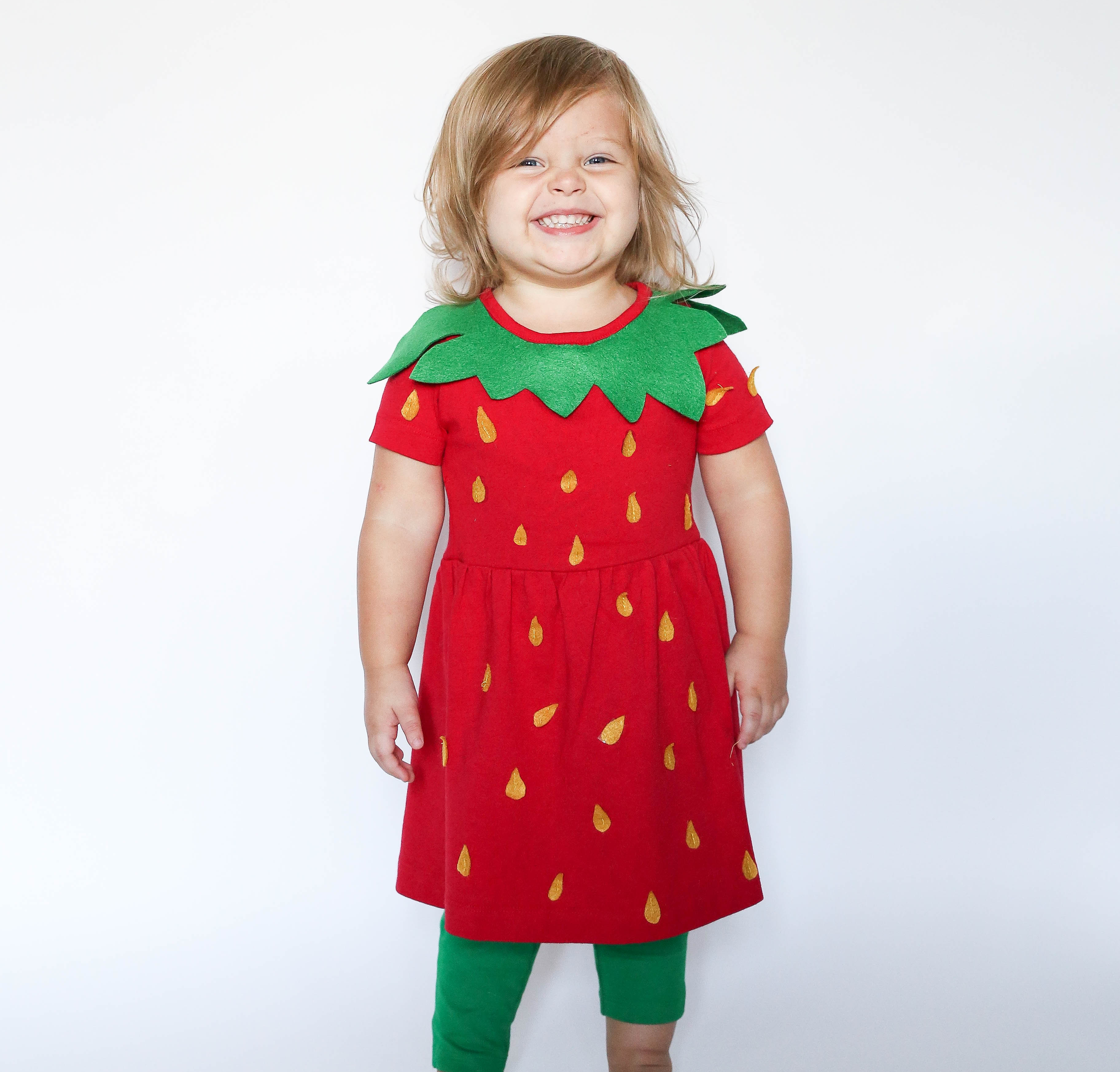 No-Sew DIY strawberry food Costume | Primary.com  sc 1 st  Primary & No-Sew DIY Strawberry Kids Costume | Primary.com
