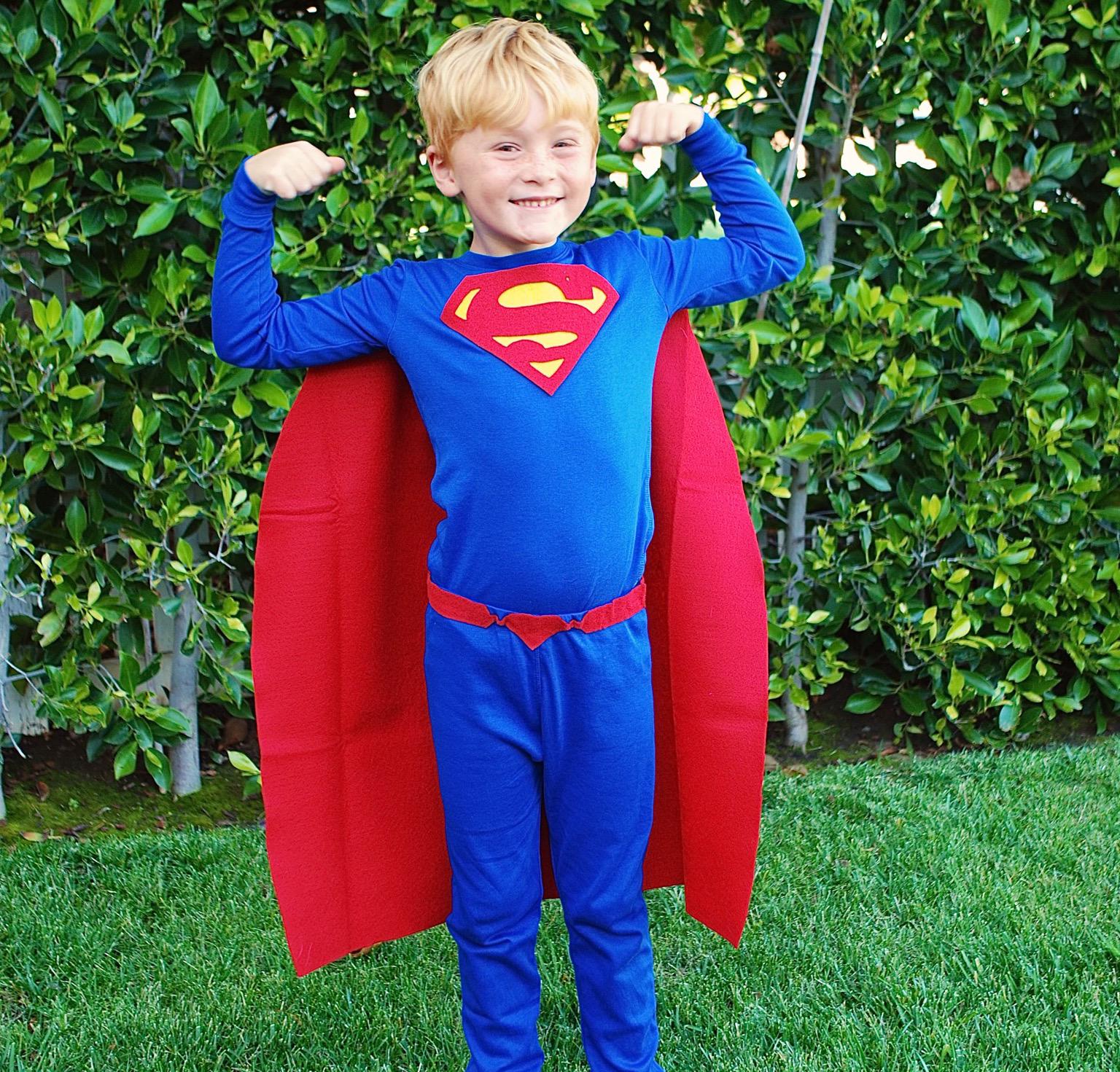 No Sew Diy Superman Kids Costume Primary Com