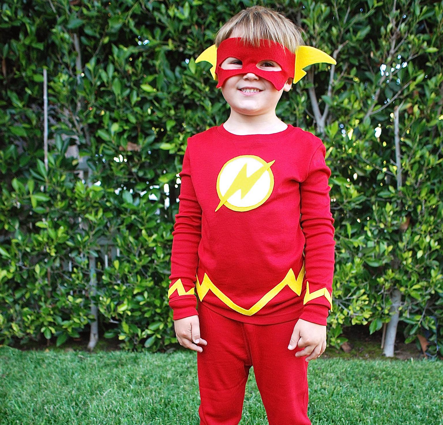 No-Sew DIY the flash super heroes Costume   Primary.com  sc 1 st  Primary & No-Sew DIY The flash Kids Costume   Primary.com