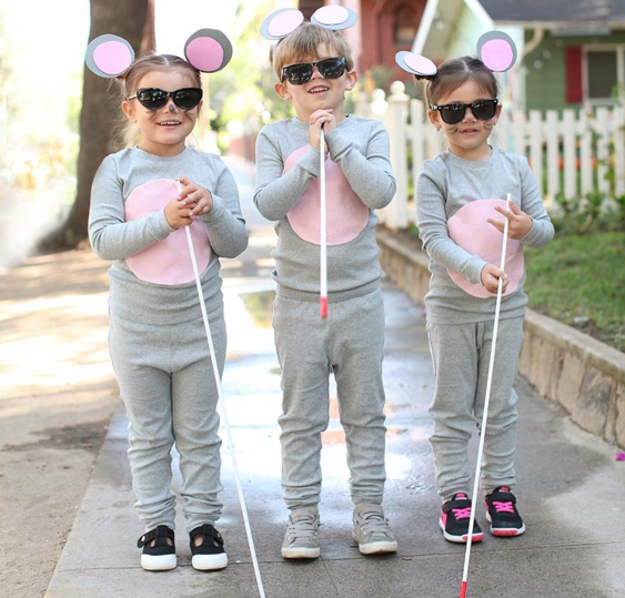 Halloween Costumes For 3 Kids.No Sew Diy Three Blind Mice Kids Costume Primary Com
