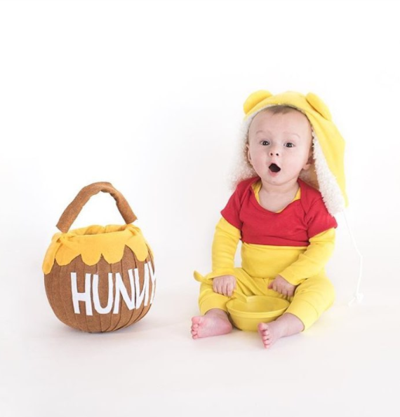 sc 1 st  Primary & No-Sew DIY Winnie the pooh Baby Costume | Primary.com