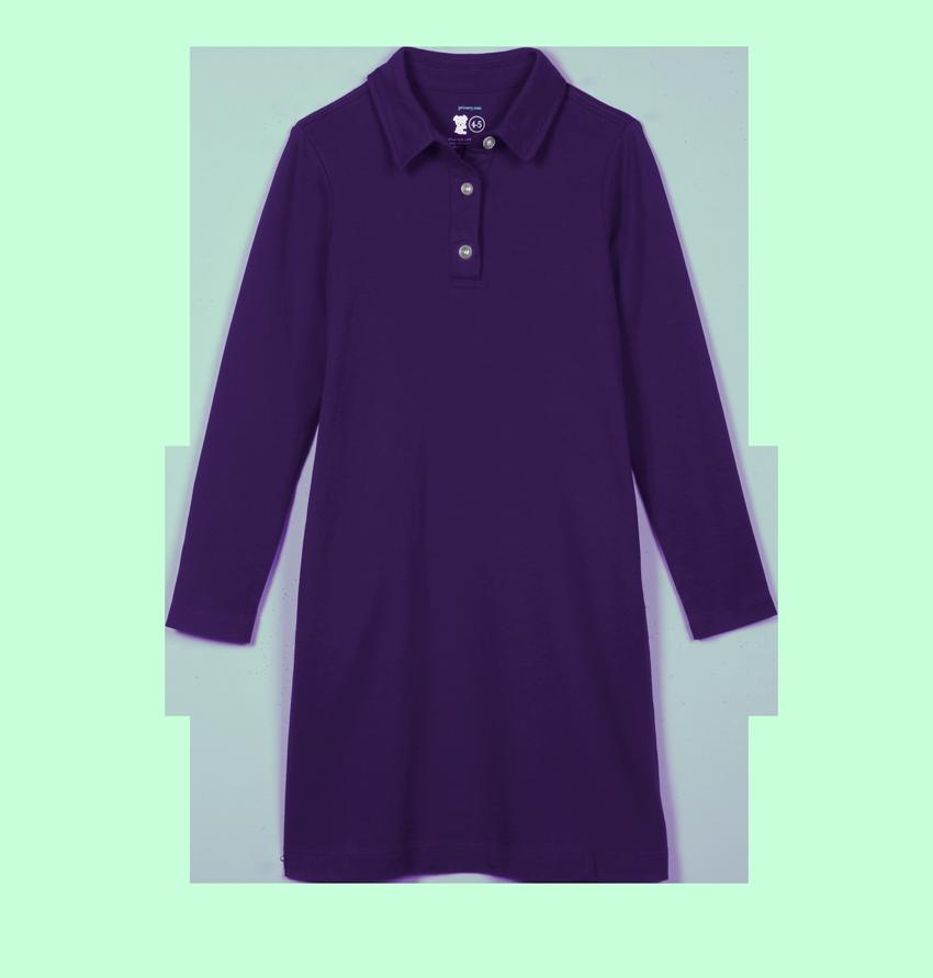 Kids Long Sleeve Polo Dress