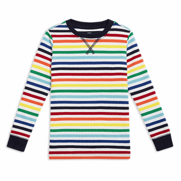 9e530260 the long sleeve rainbow stripe pj top. $16.00. slide 1 of 2. ,. size