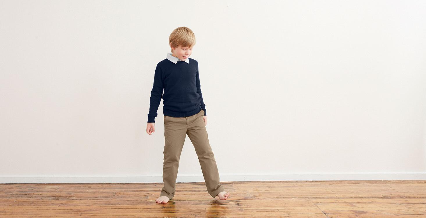 Kids Twill Dress Pants